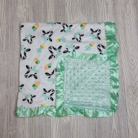 Cows and Cacti Minky Blanket