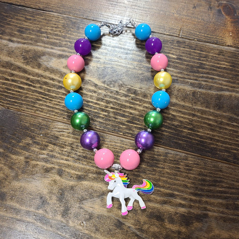 Unicorn bubblegum necklace