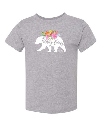 Floral Baby Bear Tee