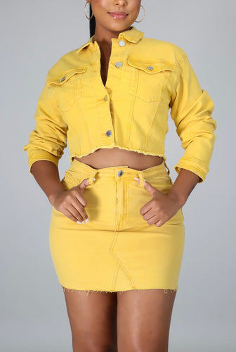 Lemon Drop Denim Set