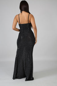 Mermaid Dazzle Slit Dress