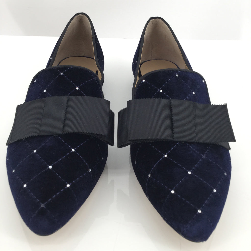 Ann Taylor Dominique Velvet Bow Loafers