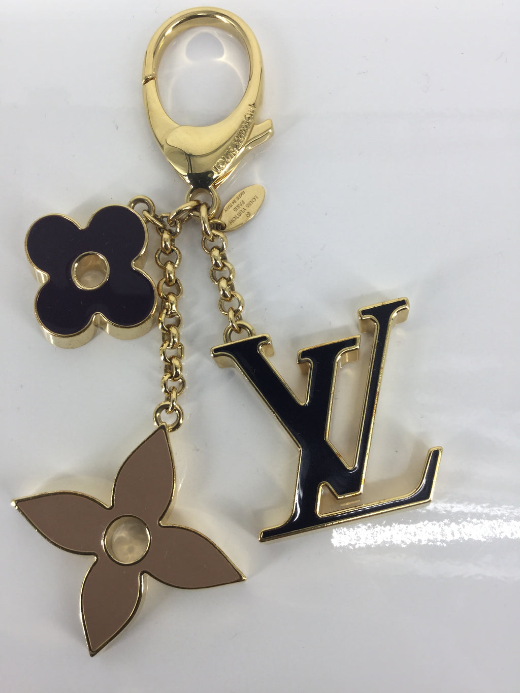 LOUIS VUITTON Fleur de Monogram Key Chain and Bag Charm