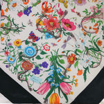 NWT Gucci Flora Snake Print Silk Scarf - BRAND NEW GUCCI SCARF.. 100% SILK. BEAUTIFUL EARTHY AND BRIGHT COLORS IN A FLORAL AND SNAKE PRINT. STILL AVAILABLE ON GUCCI'S WEBSITE FOR $495.