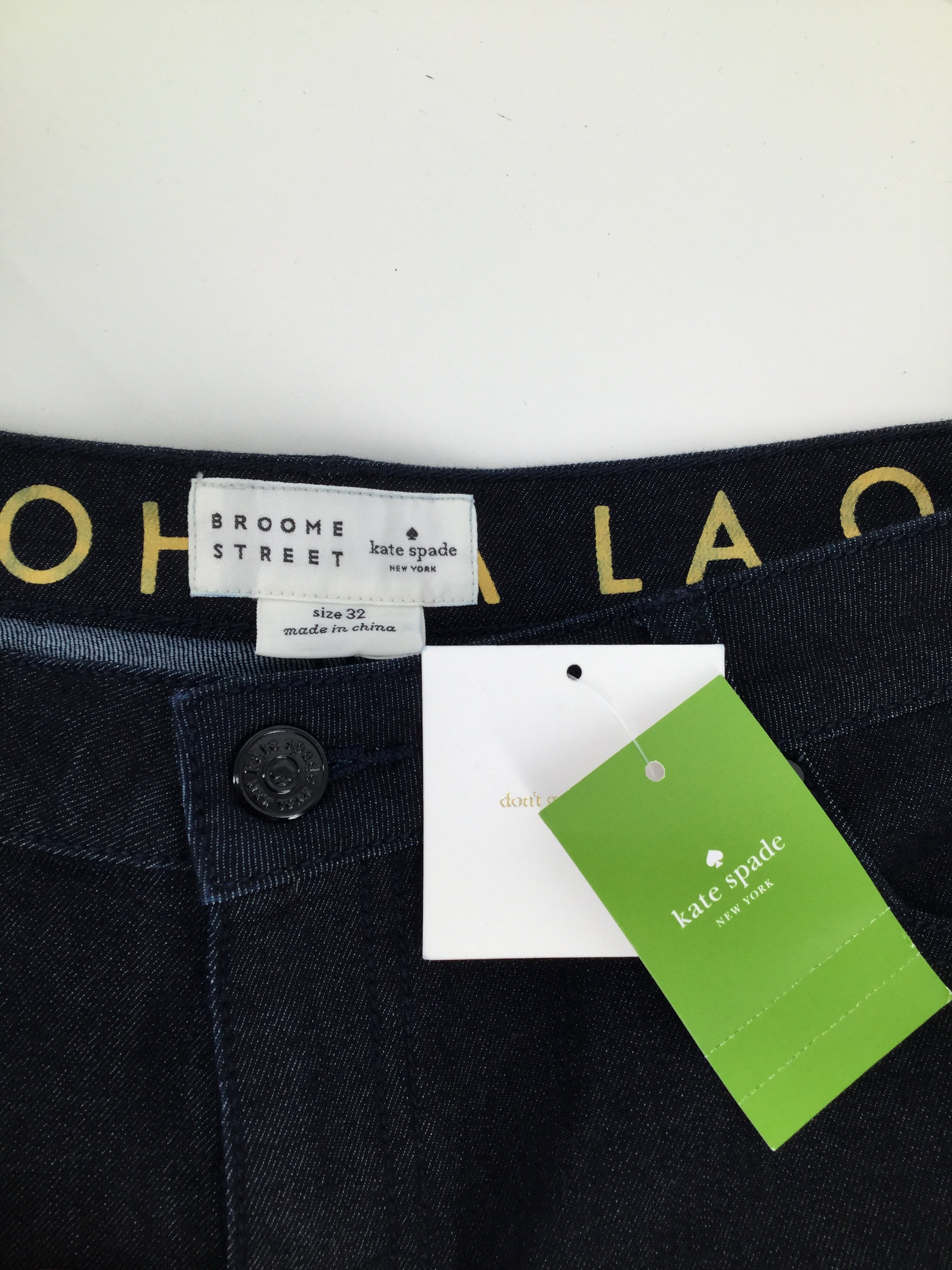 Kate Spade Ankle Pant Size:12 - GORGEOUS DARK BLUE DENIM JEANS. 