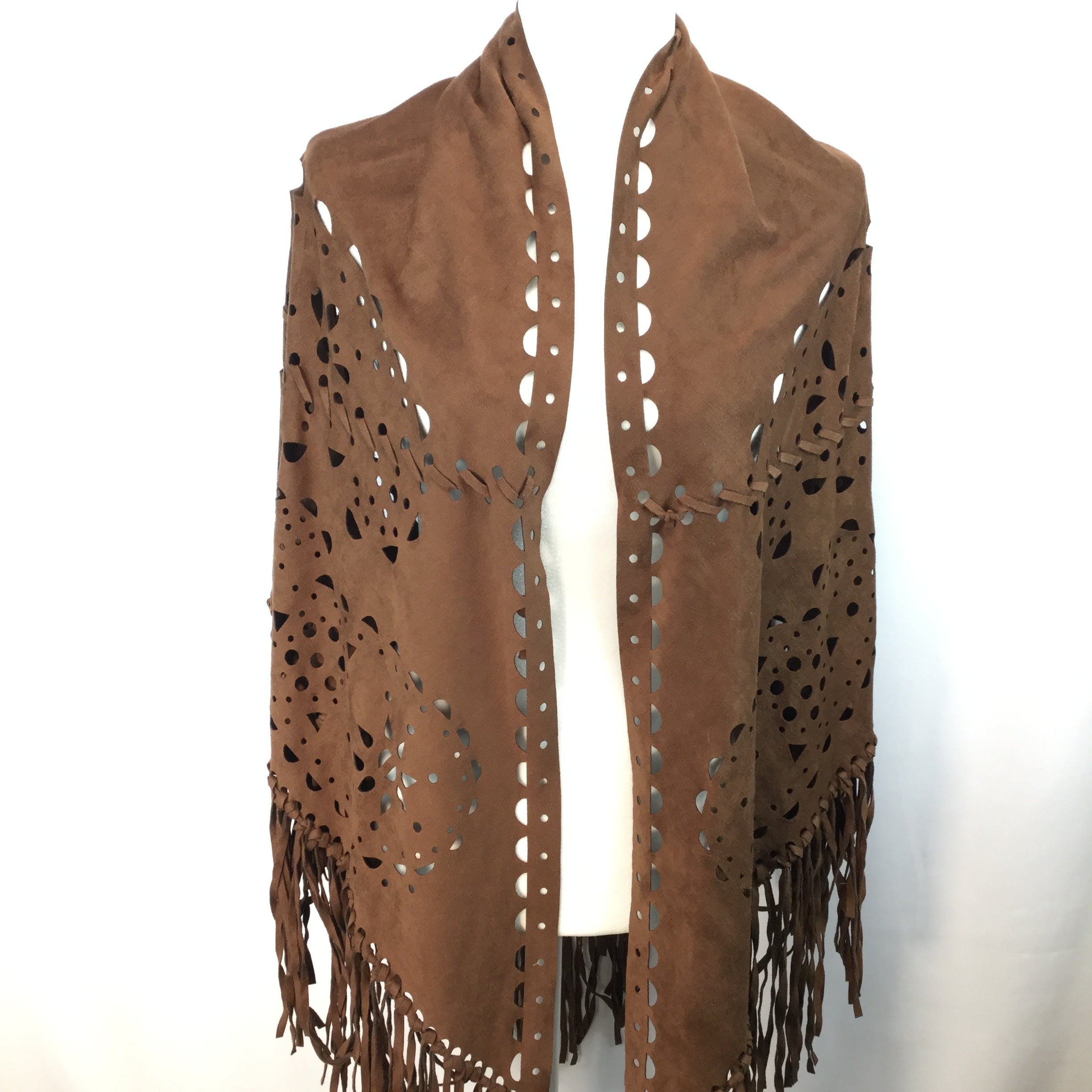 APPAREL,OTHER APPAREL - LOOKING FOR THE PERFECT SHAWL? WE HAVE YOU COVERED! THIS LIGHTWEIGHT SHAWL HAS LOTS TO LOVE FROM TASSELS, TO CUT OUTS, AND GREAT MATERIAL.