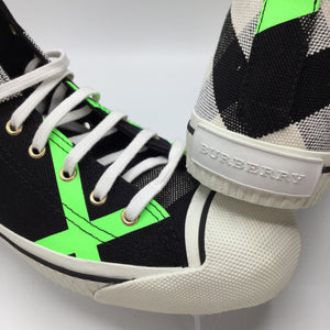 BURBERRY Bourne Neon Green Hightop: woman's size13