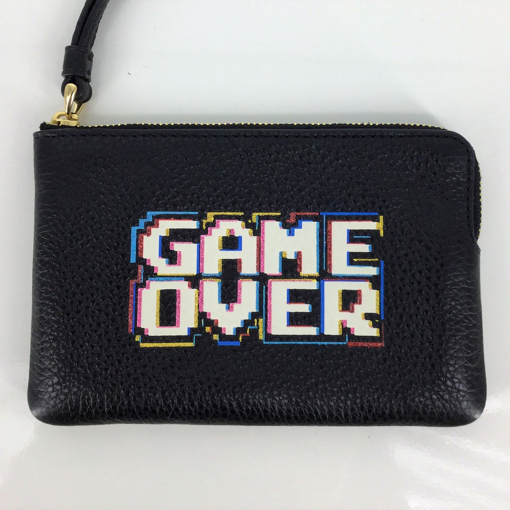 "Coach ""GAME OVER"" Wristlet"