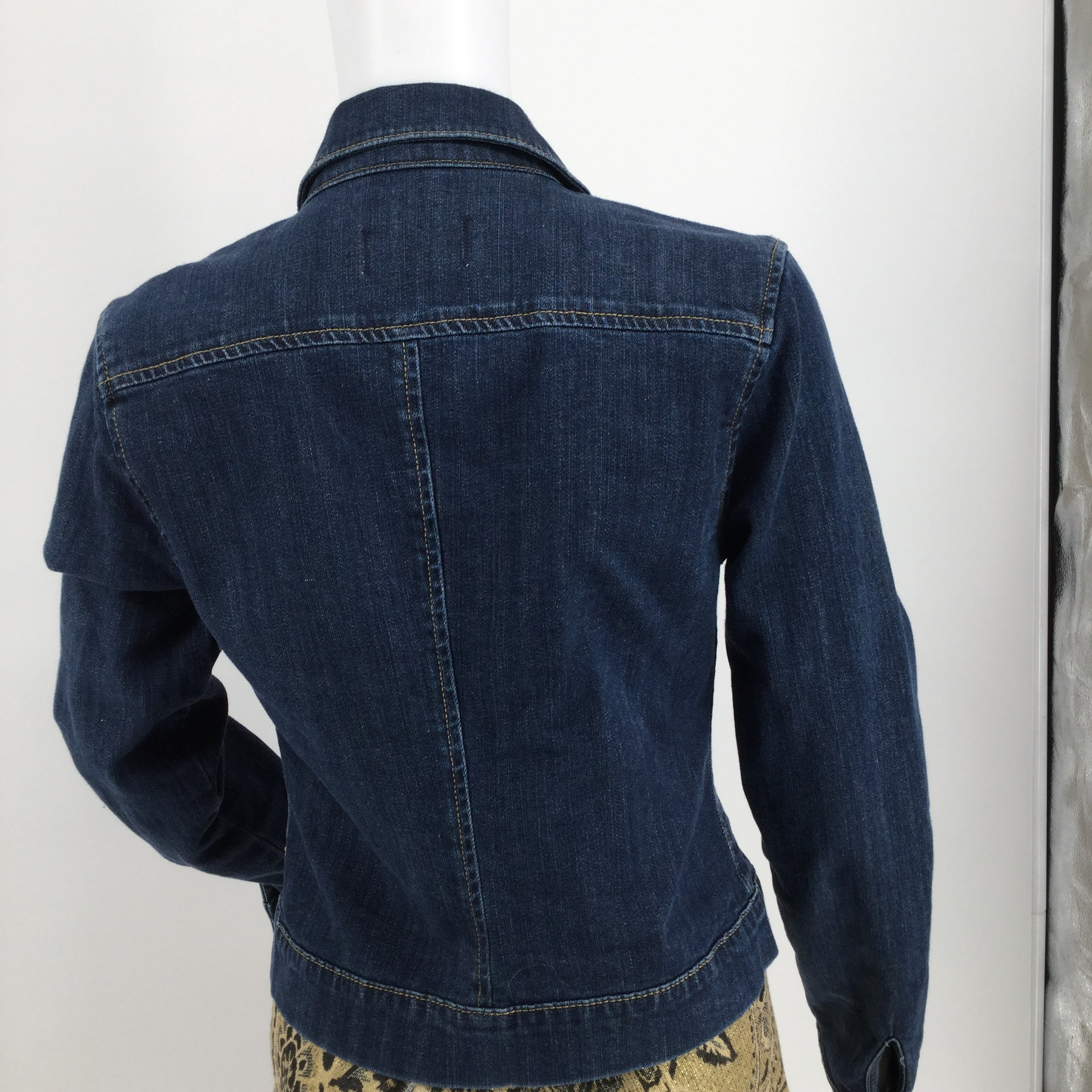 APPAREL,OUTERWEAR - DENIM JACKET WITH SILVER HARDWARE SIX BUTTON CLOSURES TWO POCKETS ON FRONT *SKIRT NOT INCLUDED