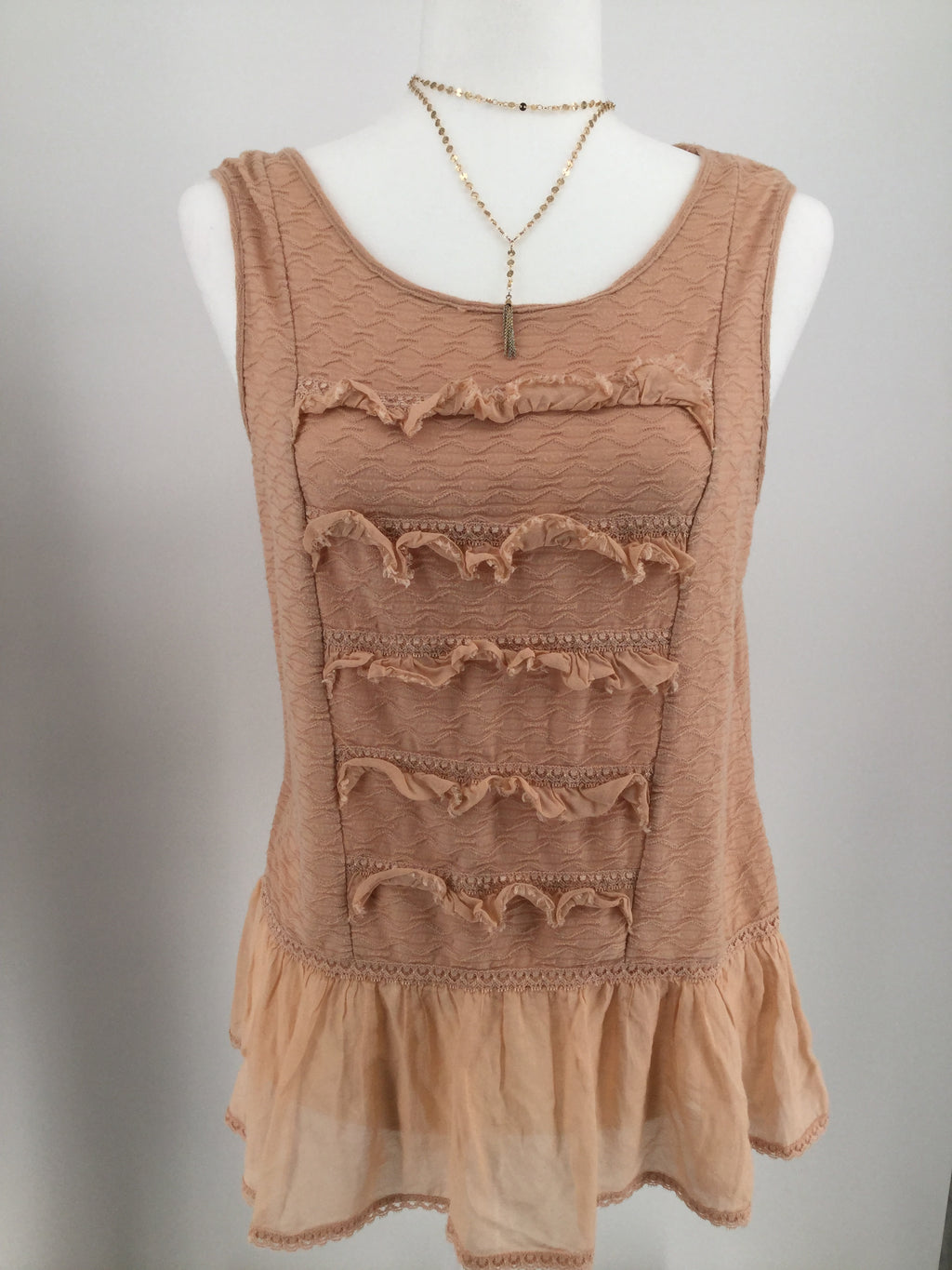 FREE PEOPLE TOP SLEEVELESS SIZE:M