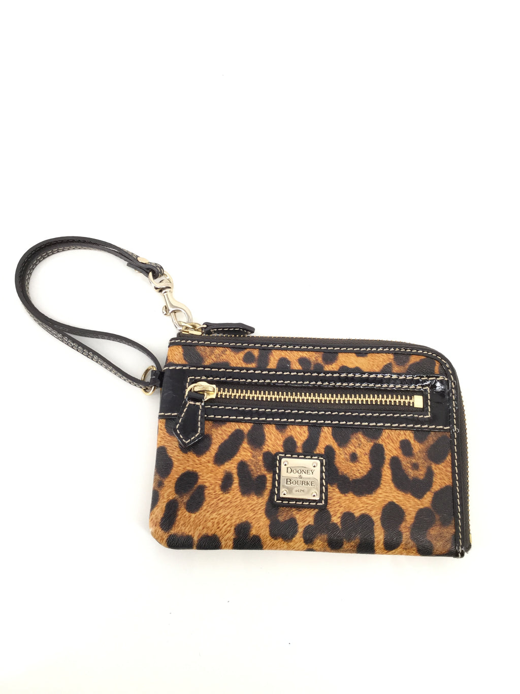 Animal Print Leather Dooney And Bourke Wristlet