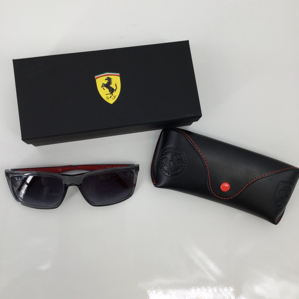 Ray Ban Sunglasses, Black and Red,