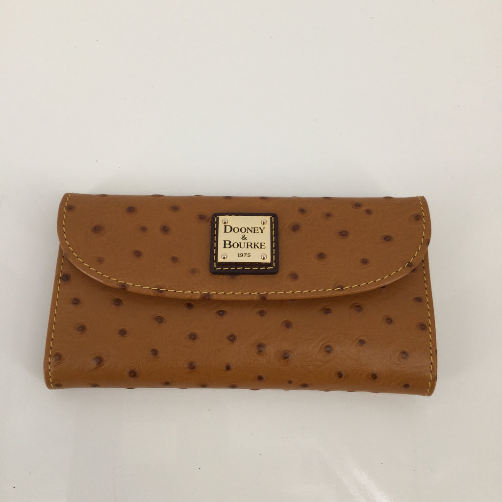 Dooney And Bourke Wallet, Leather, Tan, Size:small