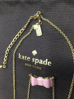 Kate Spade Moon River Pink Bow Necklace, NWT! - BRAND NEW WITH TAGS