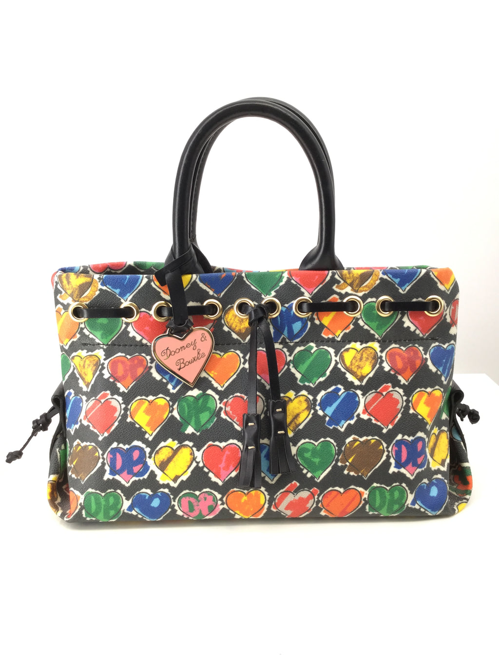 Dooney And Bourke Designer Handbag, Hearts, Small