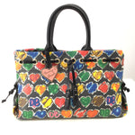 Dooney And Bourke Designer Handbag, Hearts, Small - DON'T YOU LOVE DOONEY AND BOURKE? THIS HEART MULTI COLORED SMALL DESIGNER HANDBAG IS SUPER CUTE AND IS WAITING FOR YOU FOR JUST $50. MINOR CONDITION ON THE INSIDE (SEE PHOTOS).