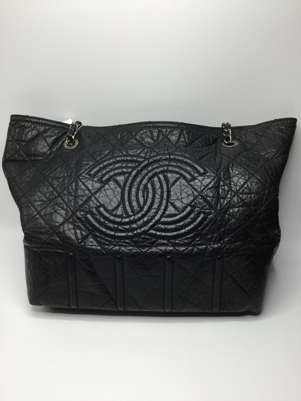 Chanel Crinkle Leather with Silver chain