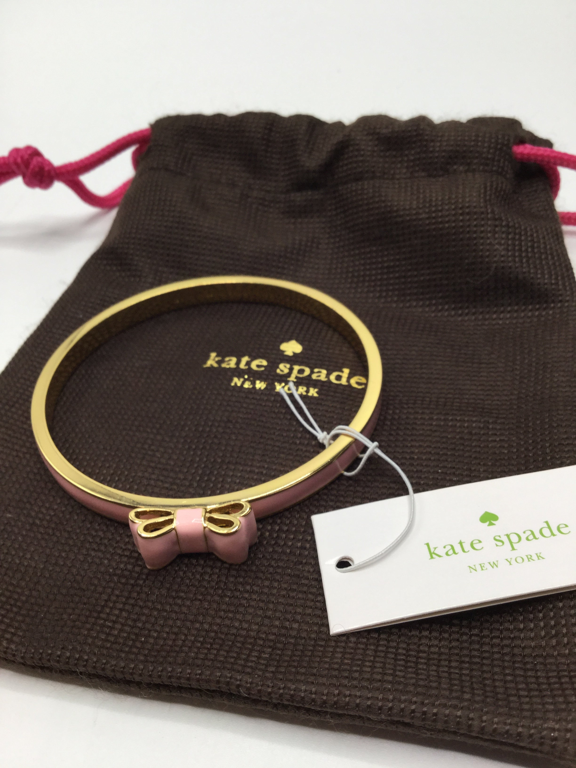 Kate Spade Moon River Pink Bow Bracelet, NWT - BRAND NEW WITH TAGS ON BRACELET