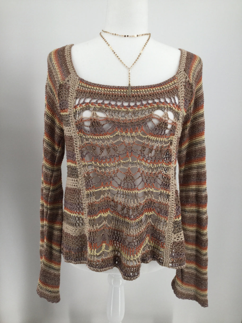 FREE PEOPLE TOP LS SIZE:M
