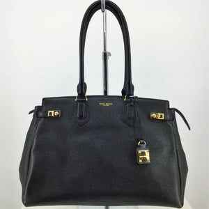 HENRI BENDEL CARLYLE E/W TOTE - LIKE NEW PEBBLE LEATHER TOTE BY HENRI BENDEL. GOLD HARDWARE. ZIPPER TOP CLOSURE. WORKING CLASPS TO EXPAND OPENING. ONE LARGE ZIPPER POCKET, ONE LARGE SLIP POCKET, AND TWO MEDIUM SLIP POCKETS INSIDE.