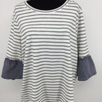 APPAREL,TOPS - MEET YOUR NEW FAVORITE WEEKEND TOP: NEW WITH TAGS LANE BRYANT TOP THAT WILL MATCH YOUR BLACK LEGGINGS AND YOUR BOYFRIEND JEANS;ORIGINALLY 39.95, YOURS FROM CM FOR 22