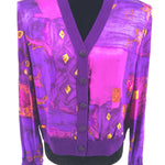 St John Collection Sweater Cardigan Lightweight Size:10 - GORGEOUS, PURPLE, LIGHTWEIGHT SWEATER CARDIGAN FROM ST. JOHN COLLECTION BY MARIE GRAY.
