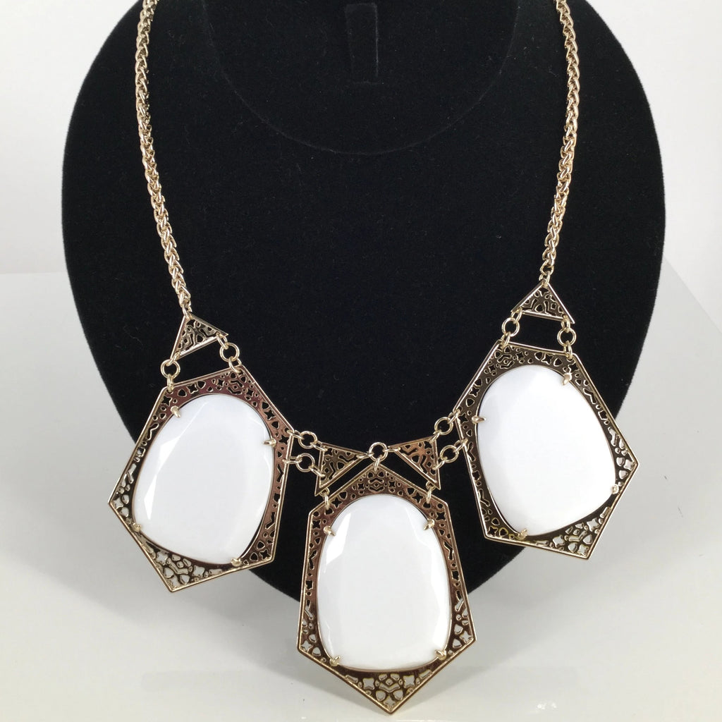 KENDRA SCOTT NECKLACE WHITE STONES