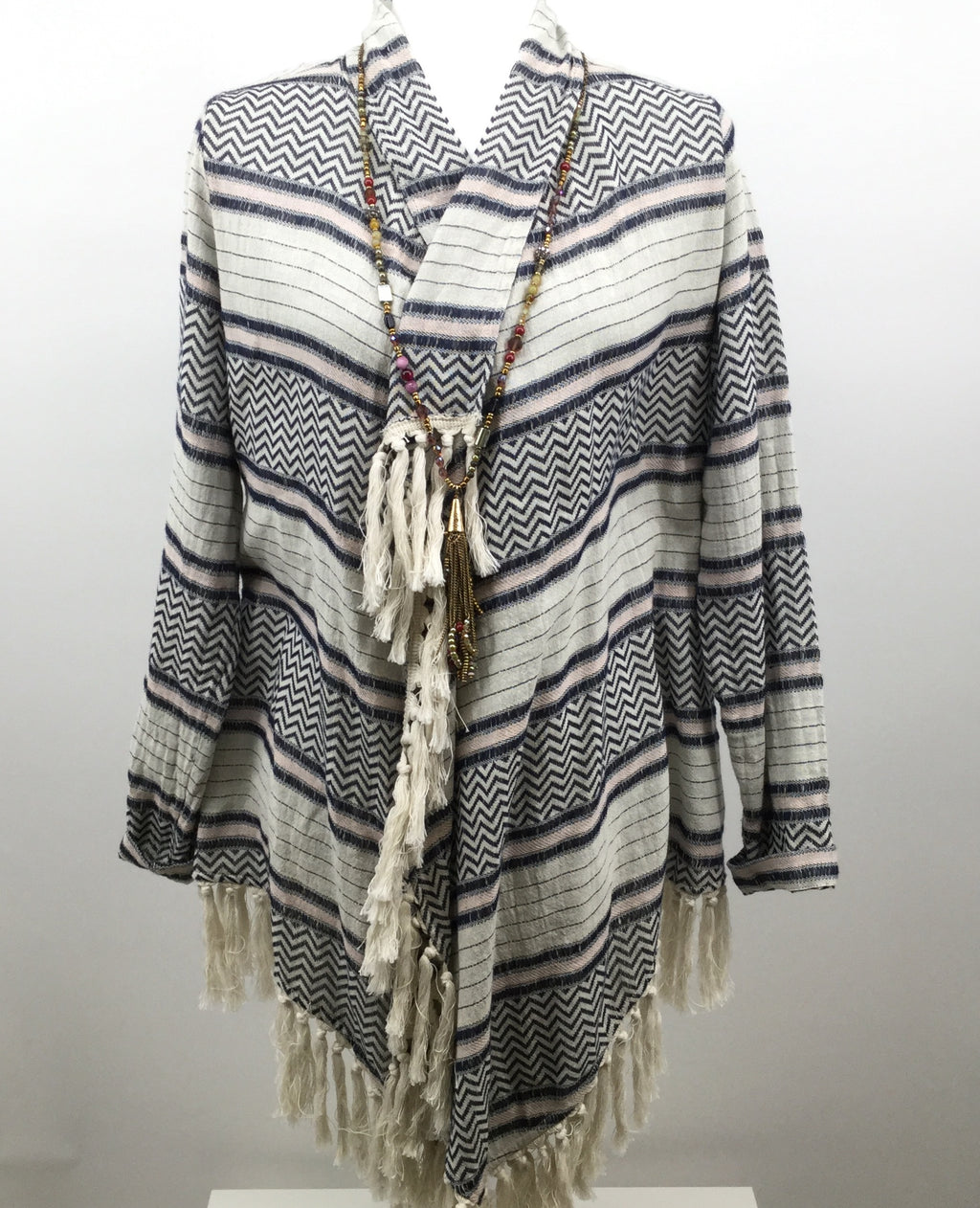 RUFF HEWN SWEATER CARDIGAN LIGHTWEIGHT SIZE:M