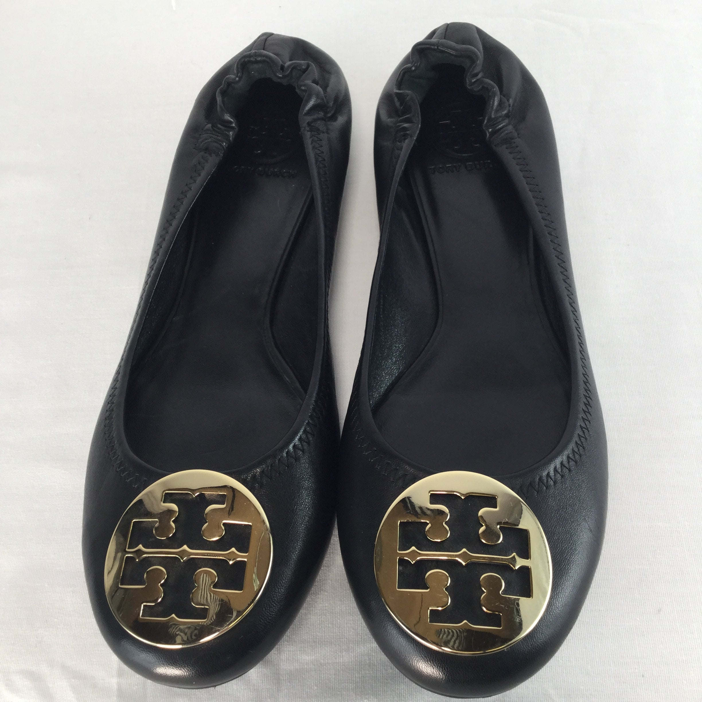 SHOES, - CLASSIC MINNIE TRAVEL LEATHER BLACK FLATS