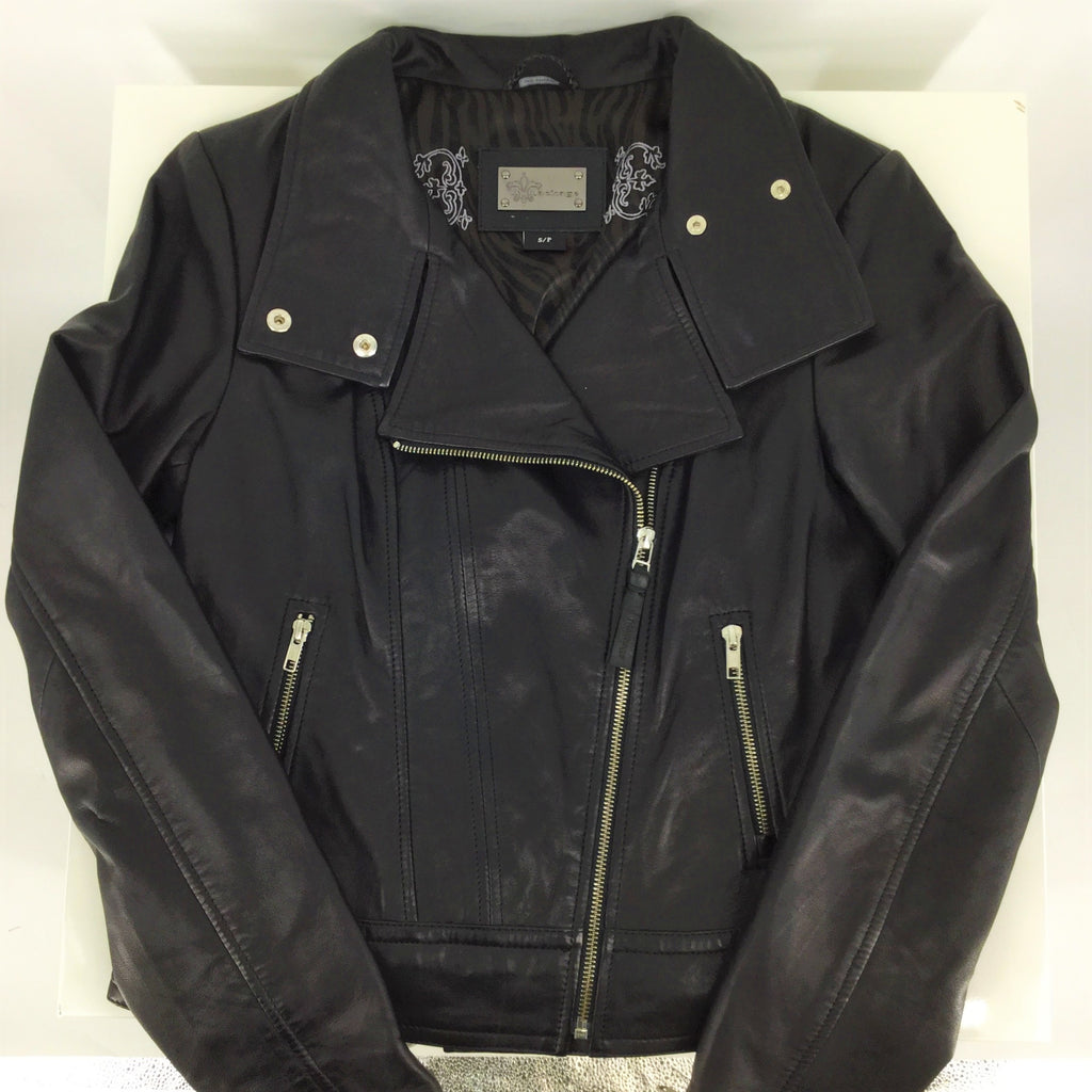 MACKAGE ARTIZIA LAMB LEATHER JACKET SIZE:S