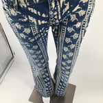 Free People Pants Size:4 - RELIVE THOSE HIPPIE DAYS IN THIS INSPIRED FREE PEOPLE JEANSFLORAL BLEACHED PATTERN COVERS FRONT AND BACK OF JEANSWIDE LEG CUT GIVES IT THAT CLASSY RETRO LOOK4 POCKETS(2 FRONT AND 2 BACK)BUTTON AND ZIPPER ON FRONT OF PANTSPERFECT TO PAIR WITH BOOTS FOR THE WINTER SEASON AND WEAR WITH SANDALS FOR THE SUMMER!