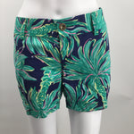 Lilly Pulitzer Callahan Shorts Size 10 - THESE MID RISE LILLY PULITZER SHORTS FEATURE AN APPROXIMATE 5 INSEAM, SIDE SLIP POCKETS, BACK BACK WELT POCKETS, BELT LOOPS, AND A BUTTON/ZIP FLY. NOTE: SHORTS ARE PINNED TO MODEL FOR PHOTO PURPOSES.