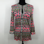 Tory Burch Top Size Medium - FROM THE SEQUINS AROUND THE NECK TO THE BUTTONS ON THE SLEEVES, THIS BEAUTIFUL TORY BURCH TOP IS A PERFECT BLEND OF CLASS AND SASS. HAVE HER TODAY FOR ONLY $30. MINOR CONDITION SNAGS AS PICTURED.