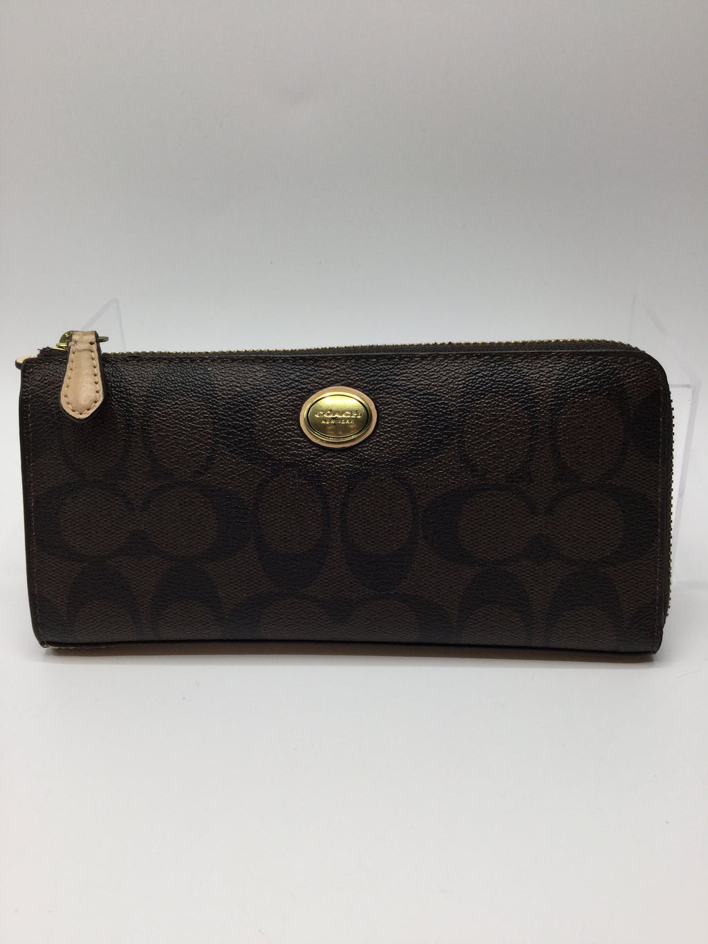Coach Peyton Signature slim Wallet Size:medium