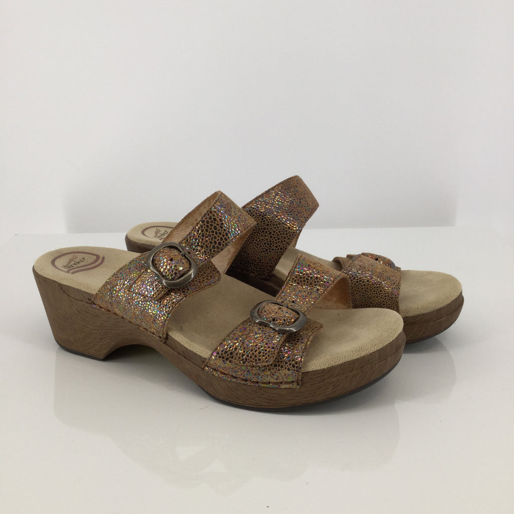 Dansko Tan Low Heel Sandals Size 11