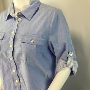 APPAREL,DRESSWEAR - GREAT CHAMBRAY DRESS WITH 4 POCKETS!