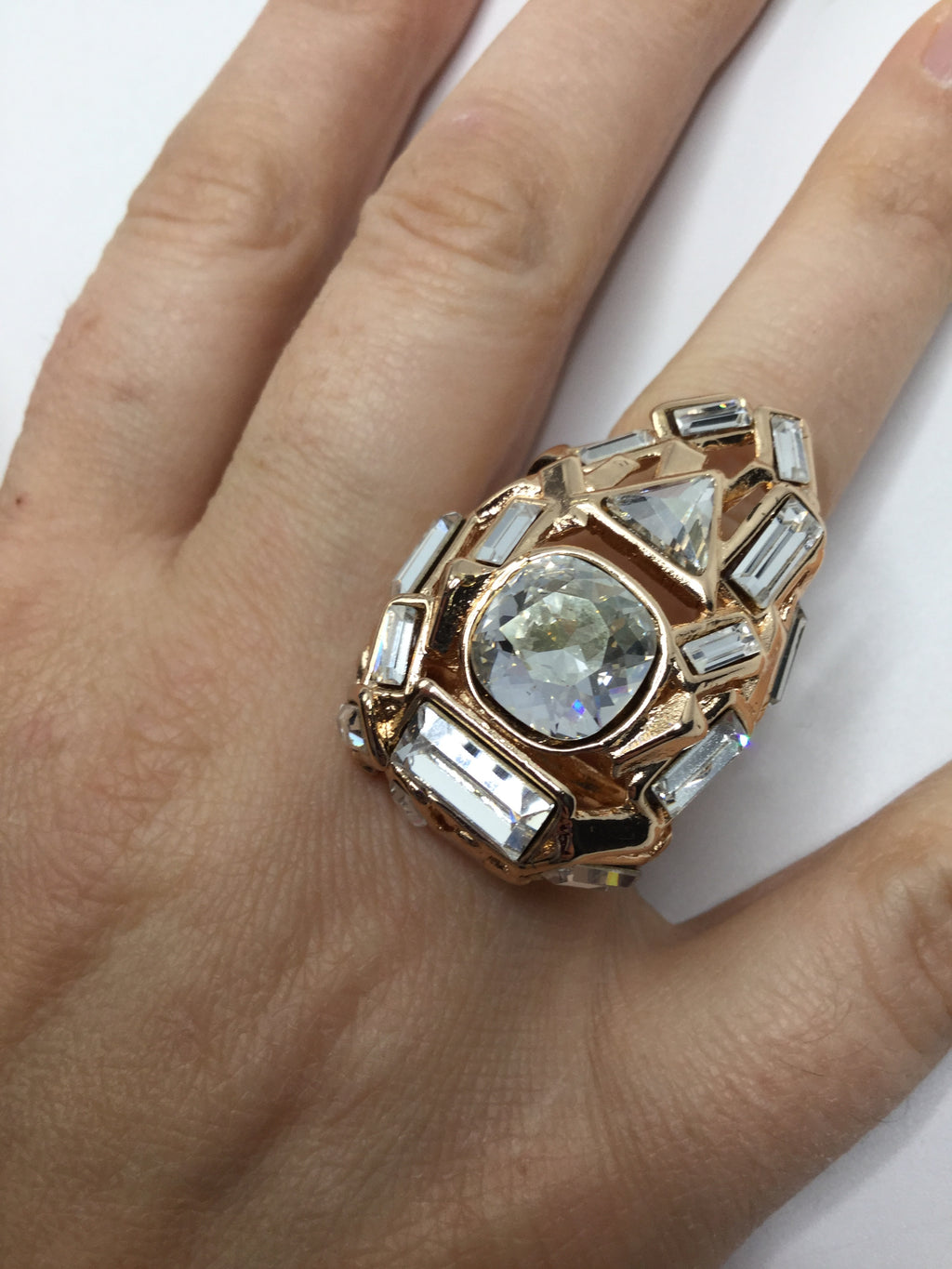 Alexis Bittar Art Deco Ring Size:7