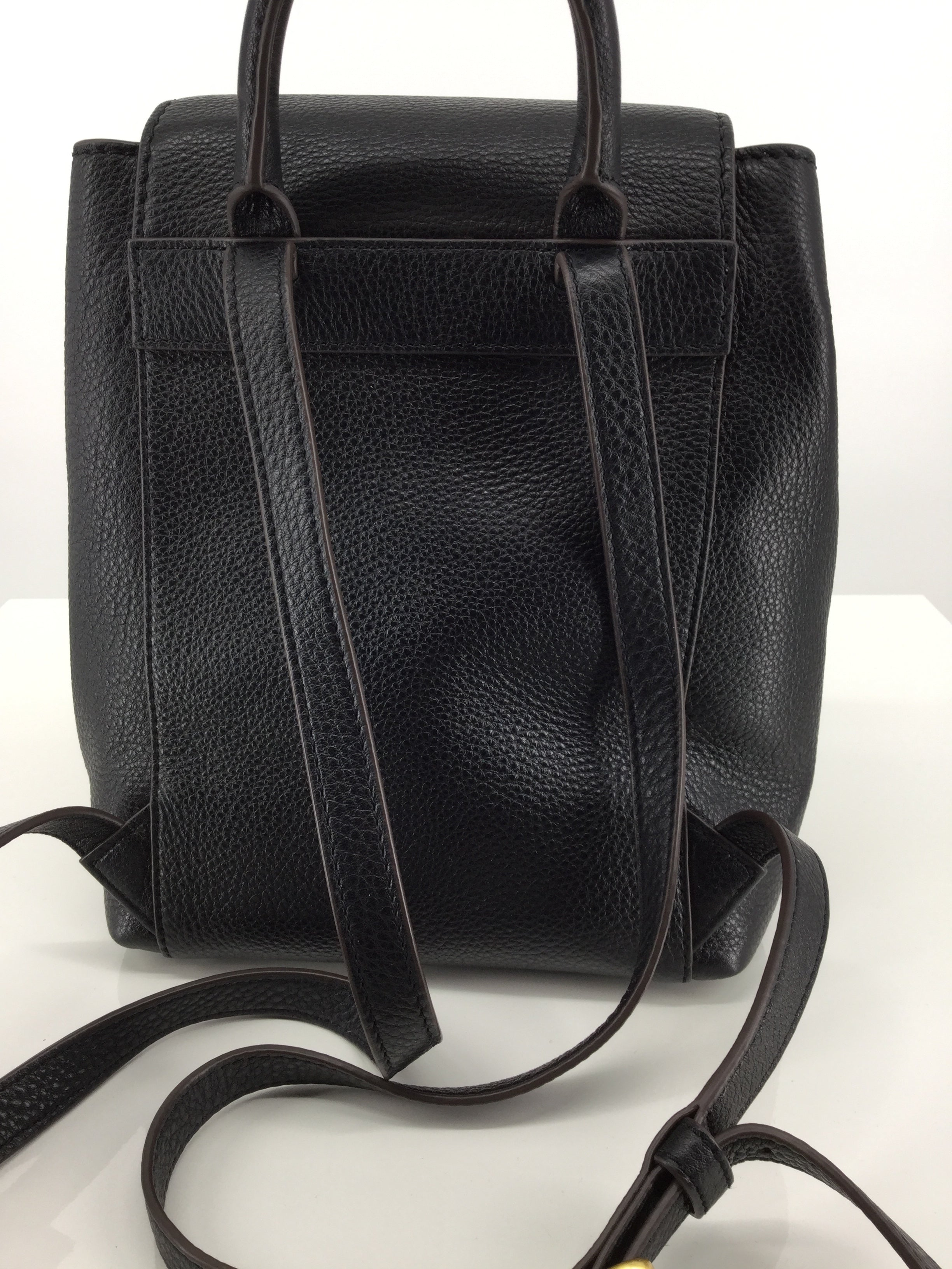 ACCESSORIES,PURSES AND HANDBAGS - MCGRAW PEBBLED LEATHER BACKPACK