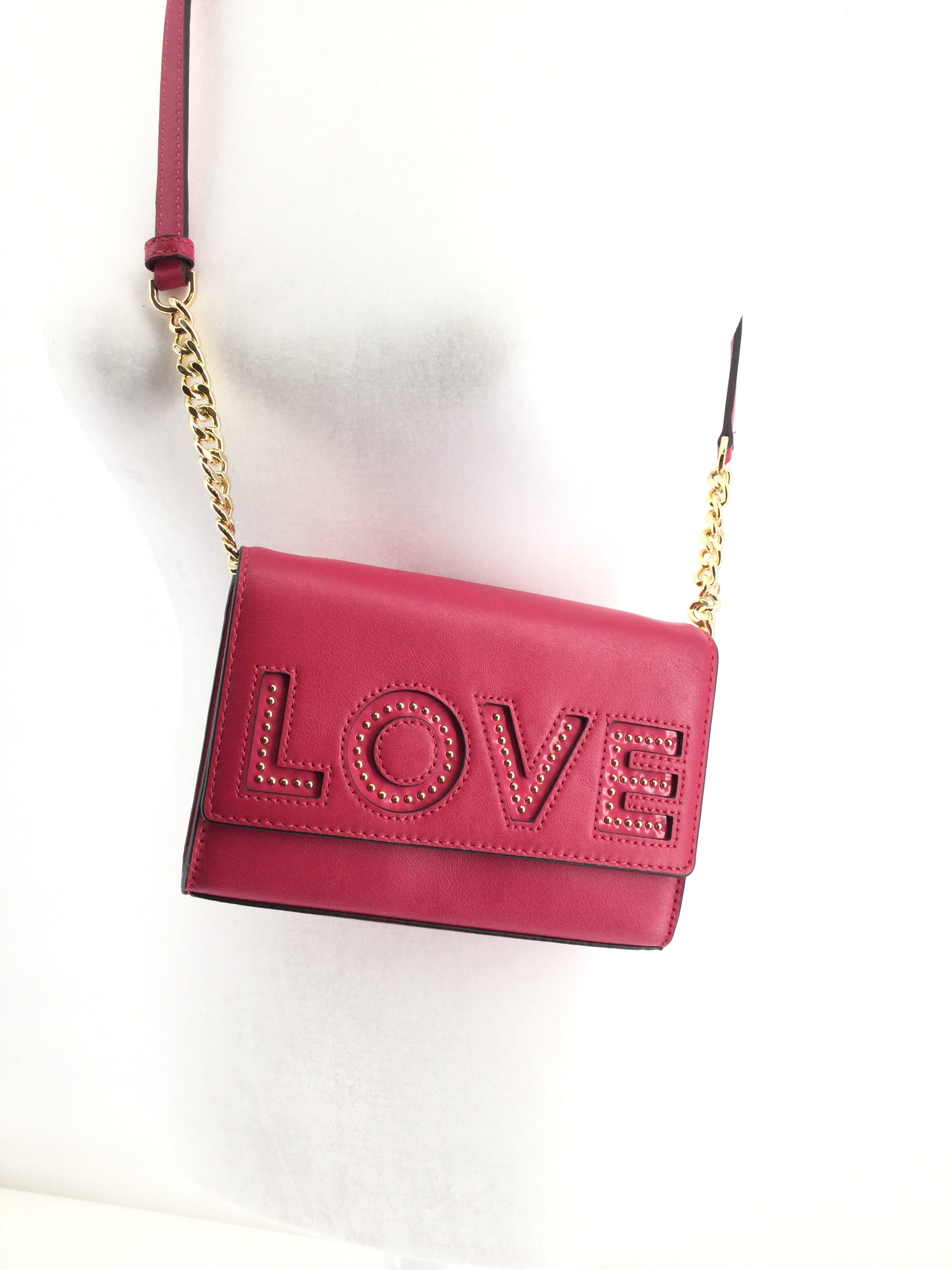 ACCESSORIES,PURSES AND HANDBAGS - PINK LEATHER CROSS-BODY WITH
