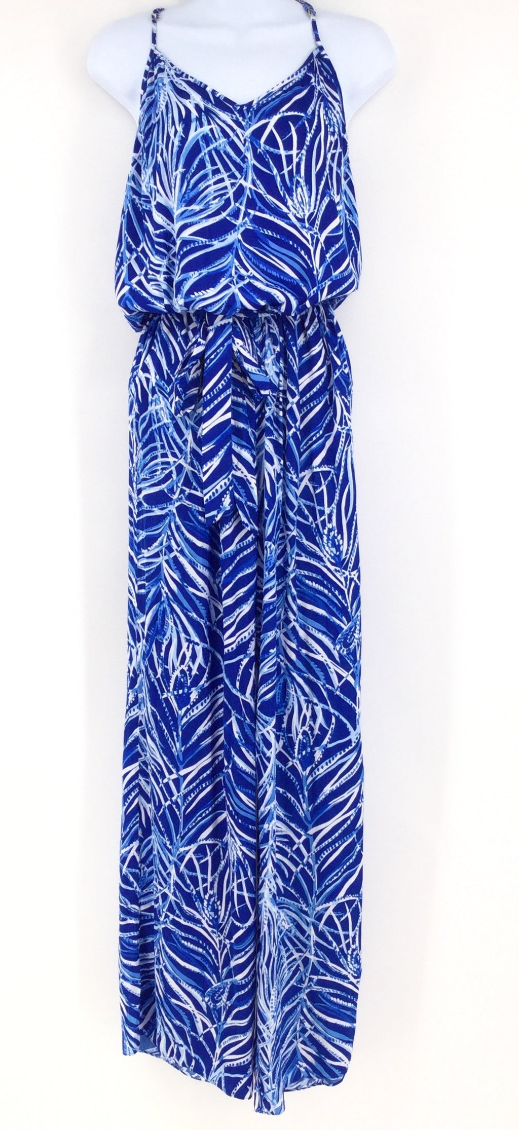 NEW WITH TAGS!! Blue and White Lilly Pulitzer Jumpsuit Size:s