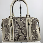 Michael Kors Handbag Designer Size:mediu - SNAKESKIN PRINT SATCHEL WITH CROSSBODY STRAP.FULL ZIP CLOSURE, 1 EXTERIOR SLIP POCKET, 2 EXTERIOR ZIP POCKETS, 4 INTERIOR SLIP POCKET, 1 INTERIOR ZIP POCKET, AND AN ADJUSTABLE AND REMOVABLE CROSSBODY STRAP.
