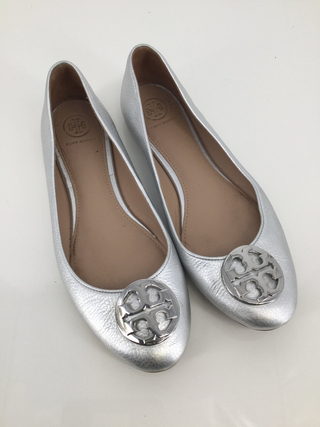 Tory Burch Silver Flats Size 8.5