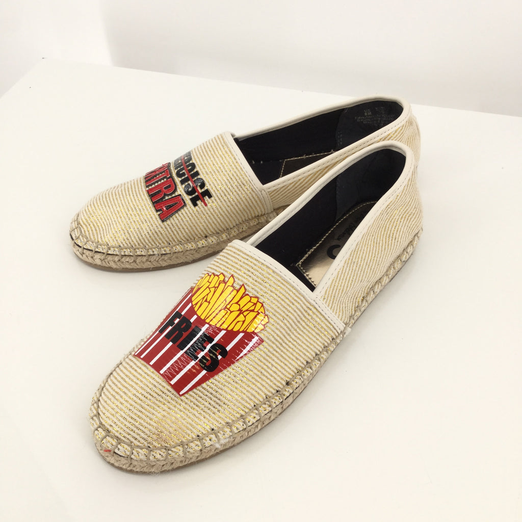 Gold French Fry Sam Edelman Espadrilles Size: 8