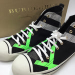 BURBERRY Bourne Neon Green Hightop: woman's size13 - BRAND NEW!!! NEVER WORN, COMES WITH BOX RETAIL PRICE IS $495 CM PRICE $150 EUROPEAN SIZE 45 WOMAN'S SIZE 13 MEN'S SIZE 11