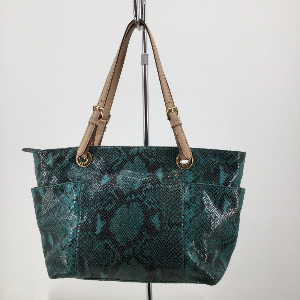 Green Animal Print Michael Kors Designer Handbag