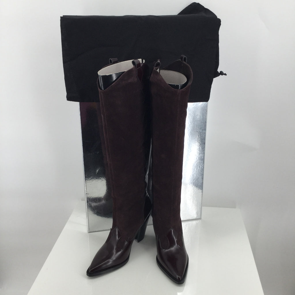 Sigerson Morrison Leather/Suede Knee high boots Sz:7