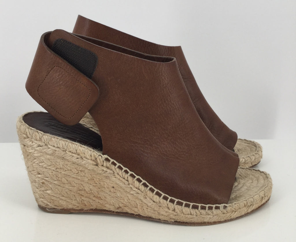 Celine Brown Wedge Heel Sandals Size 7