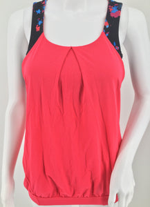 Lulu Lemon Coral Athletic Tank Top Size 4 -   LULU LEMON CORAL ATHLETIC TANK TOP SIZE 4. .   BUILT IN BRA. .   SIDE CUT OUTS. .   STRAPPY DESIGNED BACK WITH CUT OUTS. .   SUPER CUTE TOP FOR YOGA, RUNNING, OR LOUNGING IN STYLE!. .