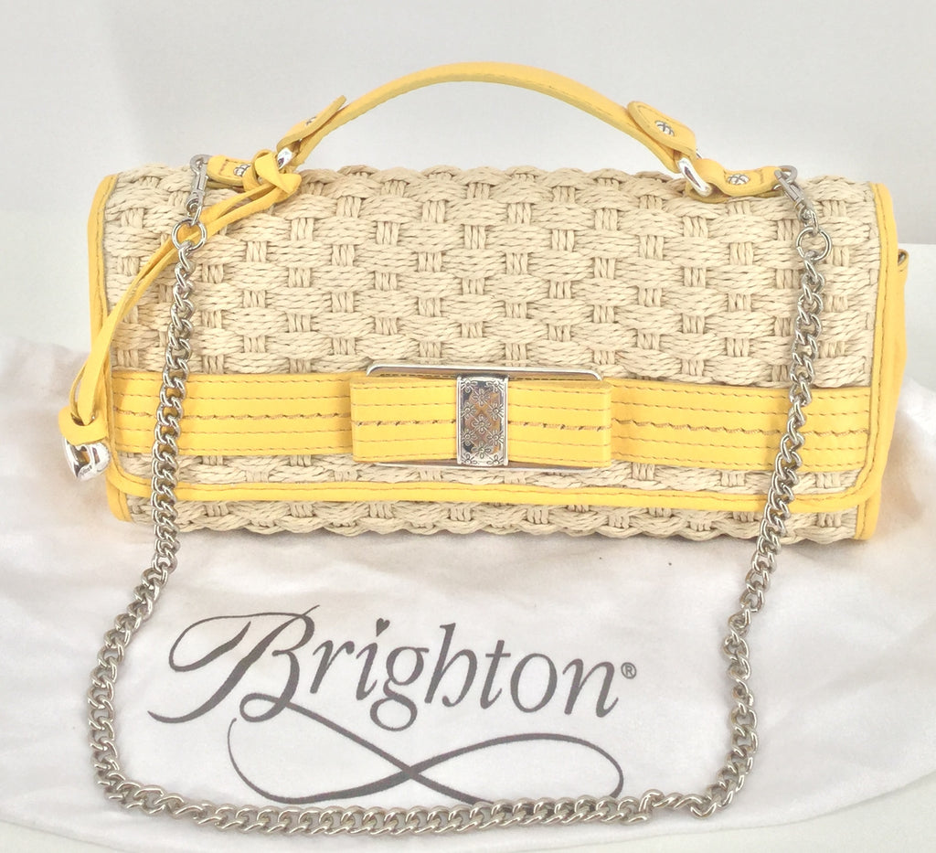 Brighton Yellow Woven Handbag