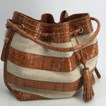 Brahmin Brown Bucket Bag